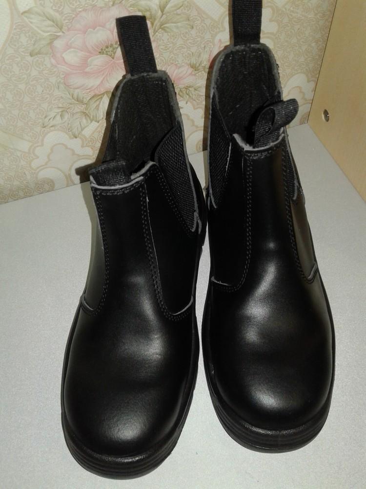 Кожаные рабочие ботинки. спецобувь. размер 39. фото №3