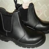Кожаные рабочие ботинки. Спецобувь. Размер 39.