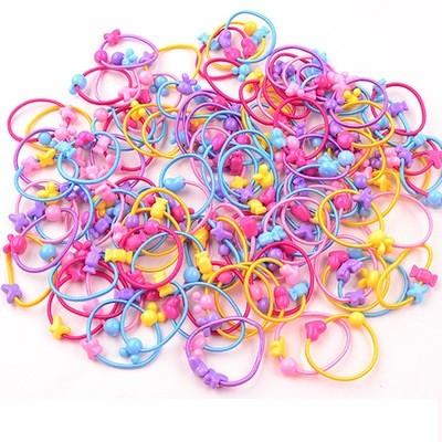 Набор детских резинок. разноцветные ассорти 50 шт. фото №1