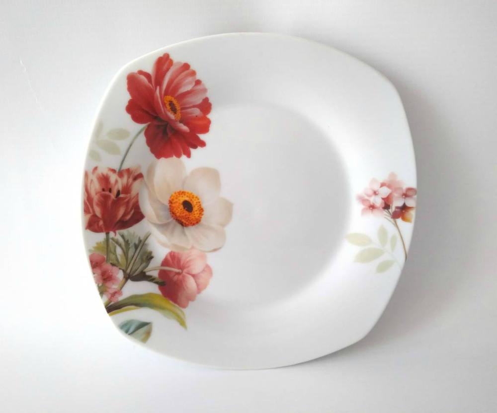 Тарелка квадратная 8мл букет цветов 17-170 фото №1