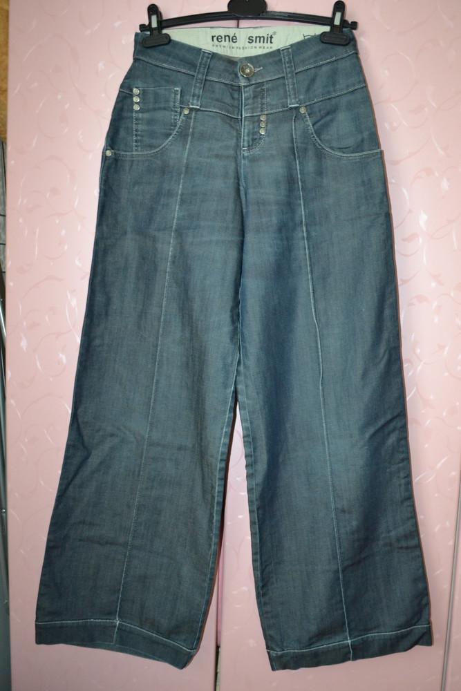 S/m 29/30 rene smit. кюлоты – модные широкие, укороченные брюки, джинсы. фирменные. фото №1