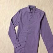 Стильная приталенная рубашка в мелкую клетку  Limited Edition, р.44