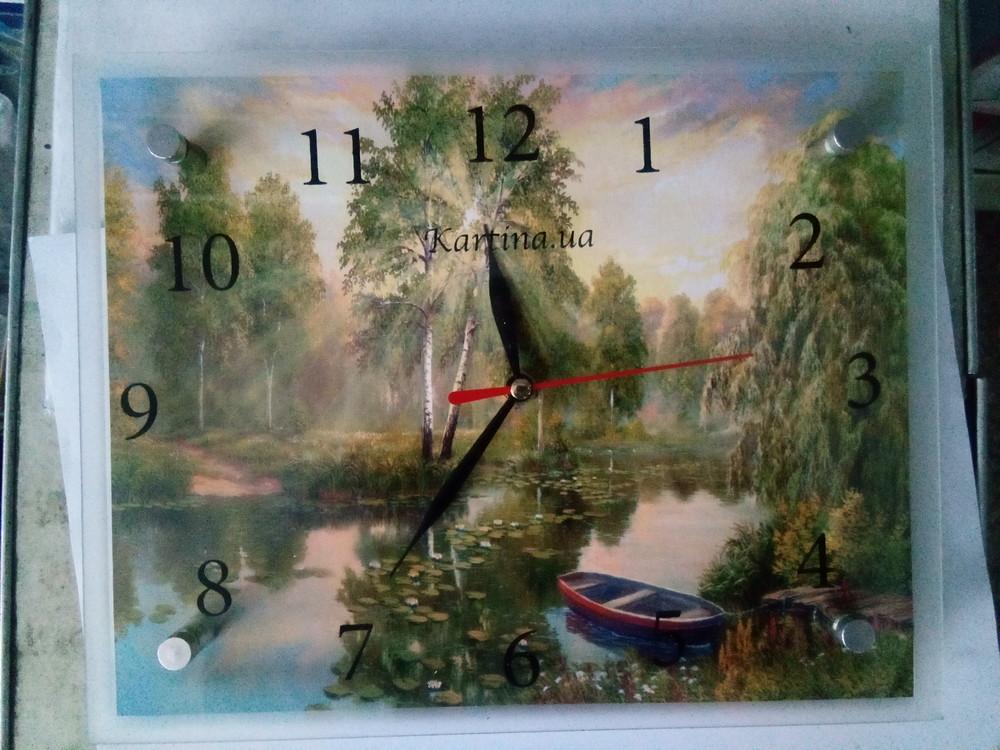 Часы-картина настенные с тихим механизмом. фото №1