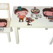 Детский столик и стульчик BS0182 Индейцы