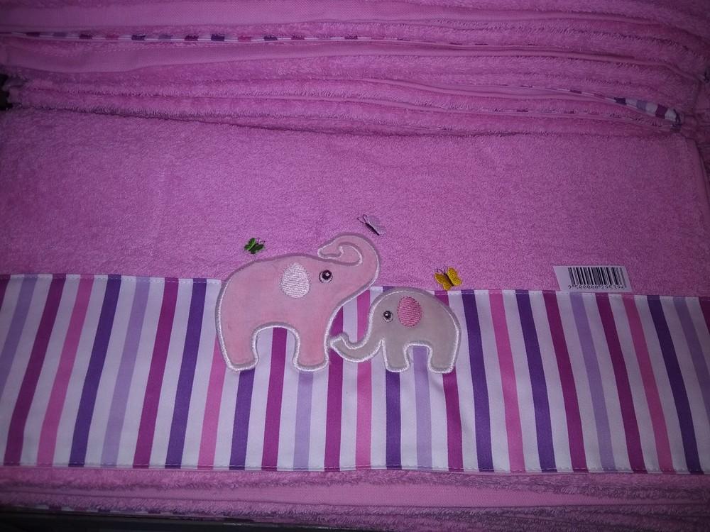 Полотенце махровое детской с отделкой фото №1