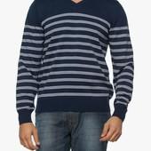 синий мужской свитер LC Waikiki / ЛС Вайкики в серые полоски