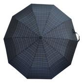 Зонт коричневая клетка 302P-02 (полуавтомат)