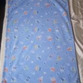 """Фирменный флисовый плед """"St. Bernard"""" размер: 74*100 см, светло-голубого цвета. тема """"Космос""""."""