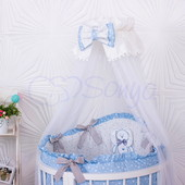 Комплект в кроватку Lucky star oval (Голубой,Розовый,Серый)