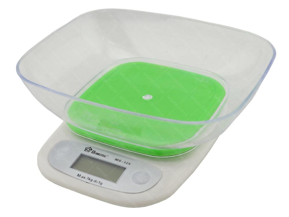 Кухонные весы с чашей domotec ms-125 до 7 кг фото №1