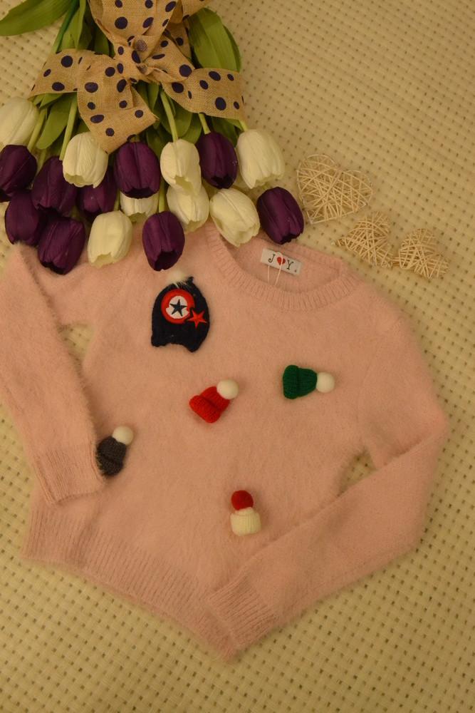 Оригинальный теплый свитерок с рукавичками из ангоры фирма joy фото №1