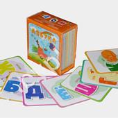 Карточки Домана для изучения алфавита, буквы и слова, русский язык