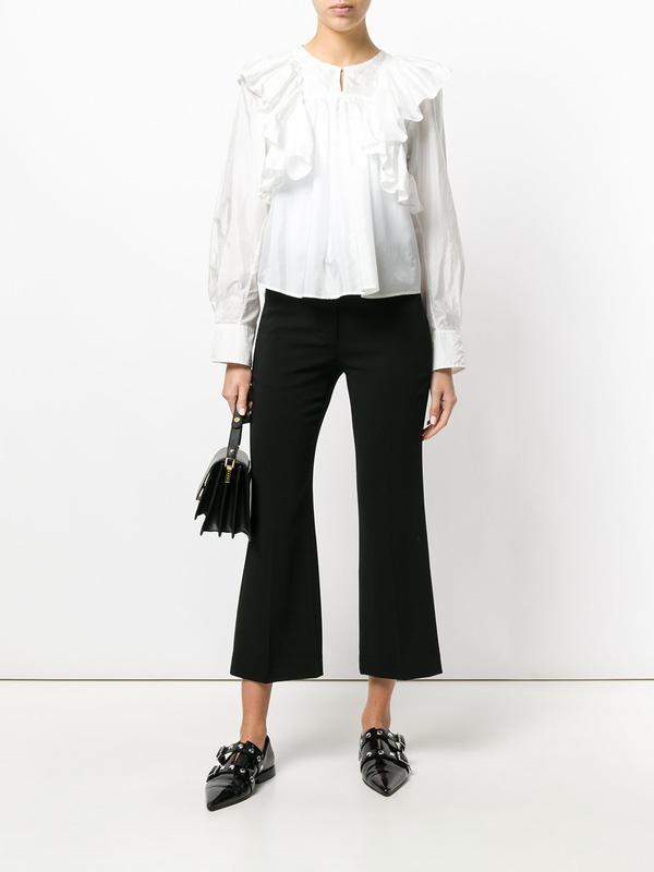 10 uk женские черные брюки клеш укороченные новое состояние фото №1