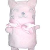 Мягкий розовый плед, велсофт, Primark