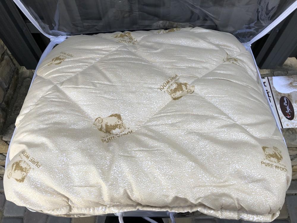 Шикарное и теплое одеяло pure wool, двуспалка фото №1