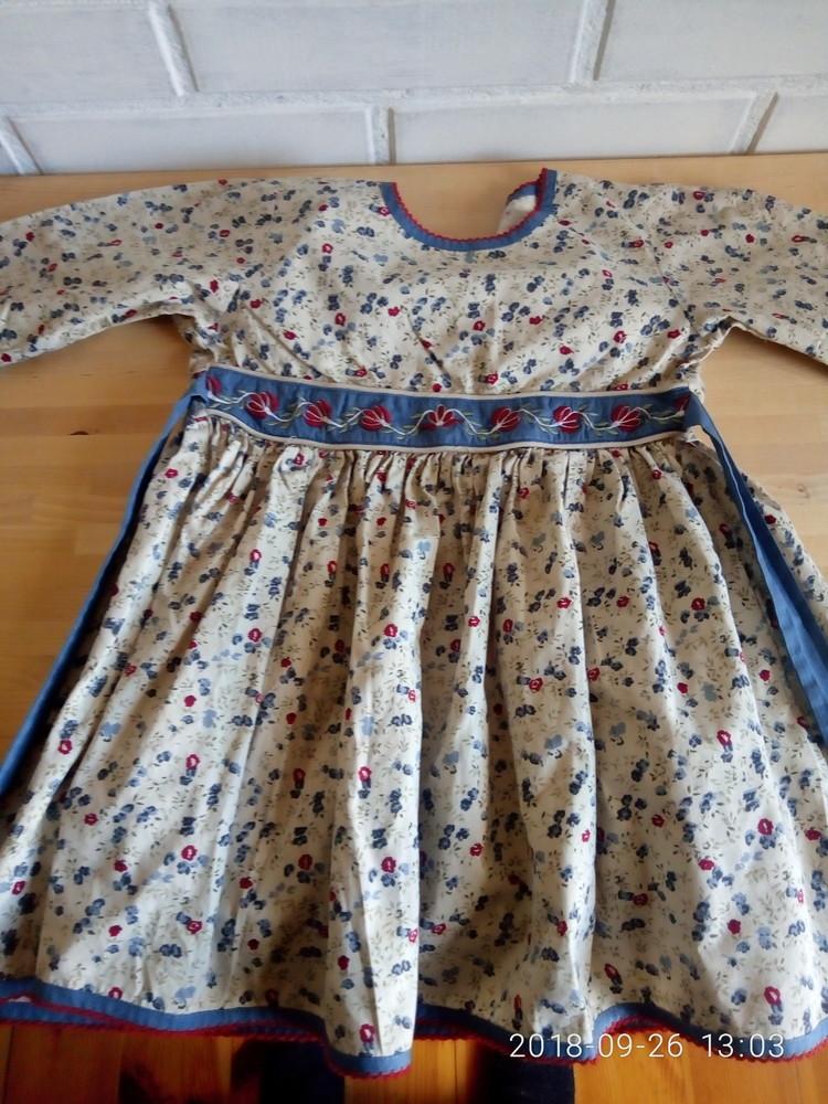 Платье 104-116 батик,вышивка hend made, фото №1