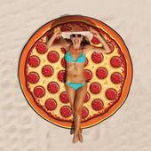 Пляжное покрывало в виде пиццы