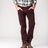 Отличные вельветовые брюки Цвет шоколад, р-ры с 29 по 38