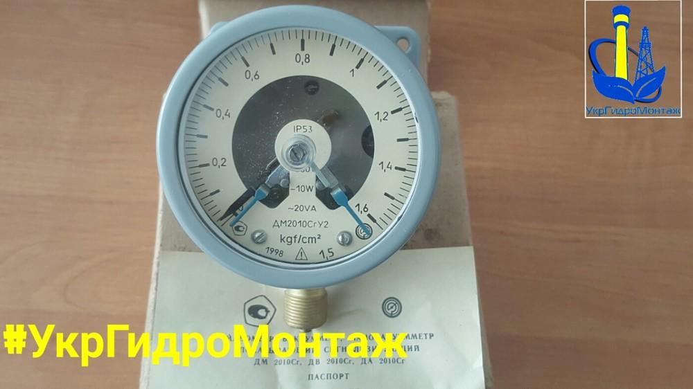 Электроконтактный манометр (экм) для водонапорных башен, цена, описание, доставка по украине фото №1