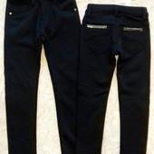 Теплые черные брюки для девочек 122-164р