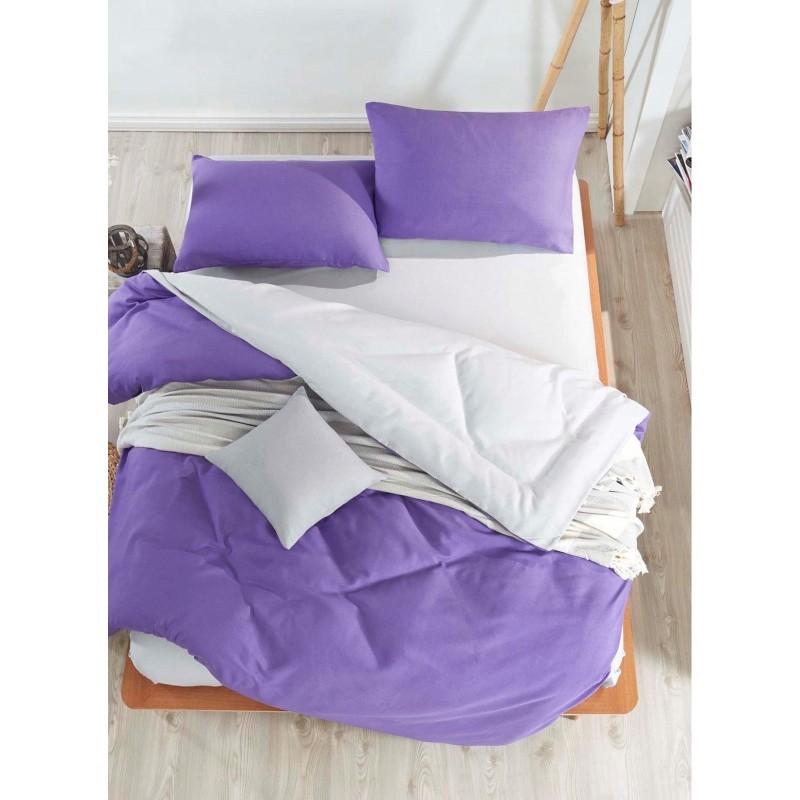 Постельное белье eponj home paint - mix ultraviolet-a.gri ранфорс евро фото №1