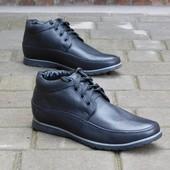 Мужские кожаные ботинки VanKristi Черные