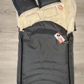 Конверт меховой + рукавицы в коляску или санки!
