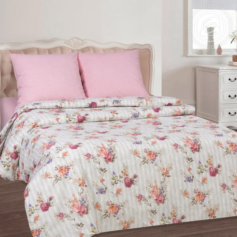 Комплект постельного белья розовое вдохновение, поплин фото №1