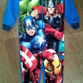 Слип,пижама флис Супергерои на 6лет(116см).