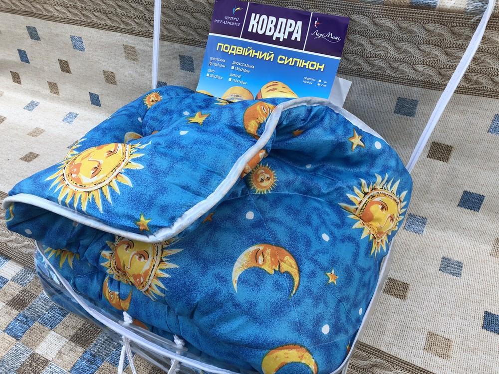 Теплое одеяло, двойной силикон, двуспальное фото №1