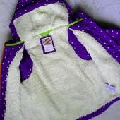 Крутая!! Mini Boden,теплющая куртка-жилетка в звёзды! На 7-8лет.