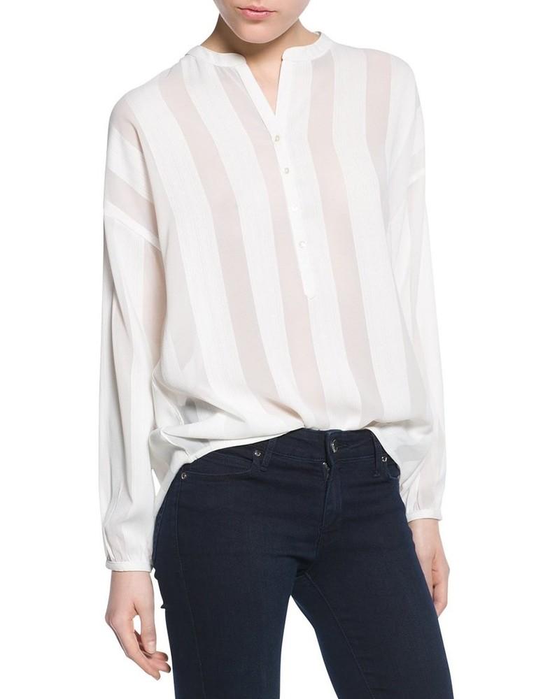 1b3d2f1b219 Белая блуза в прозрачную полоску mango premium