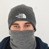 Шапка The North Face, черная, мужская, зимняя, вязаная, подростковая
