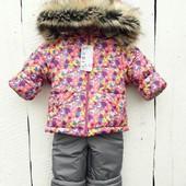 Зимняя куртка и полукомбинезон для девочки 80/90, 90/100 см