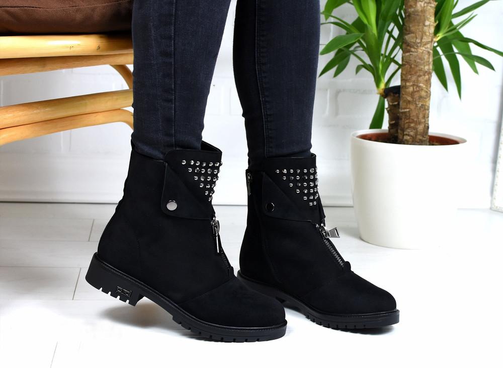 Ботинки зима с молнией спереди, ботинки молния фото №1