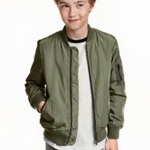 Бомбер куртка деми хаки H&M (1,5-2г)