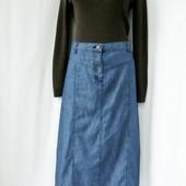 Трендовая, стильная, модная длинная джинсовая юбка от Damart . размер uk16/44(xl/xxl).