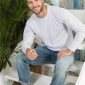 Мужская футболка с длинным рукавом, плотность 145 г/м2