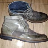 Кожаные ботинки броги 42/43 р Nicola Benson Италия.