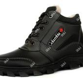 Мужские зимние черные ботинки теплые (РЛБ-35ч)