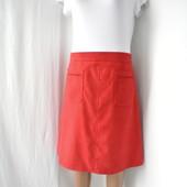 """Новая стильная, модная бордовая юбка """"H&M"""" с карманами спереди. Размер uk20/eur48."""