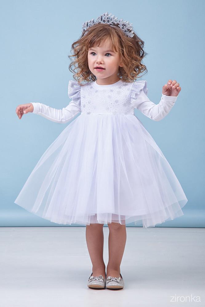 95317dd9868ae47 Zironka платье снежинка, дл. рукав, нарядное праздничное в наличии фото №1