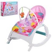 Акция Шезлонг качалка бемби 3248 детский с вибро режимом bambi кресло 7688
