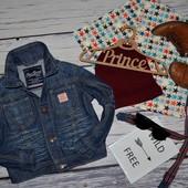9 - 12 месяцев 80 см Обалденный фирменный пиджак джинсовый курточка Next некст