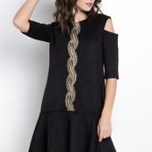 Нежное платье А-силуэта с двойным воланом