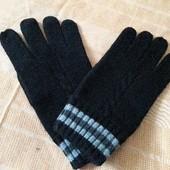 Тёплые вязаные перчатки для сенсорных телефонов фирменные Gap
