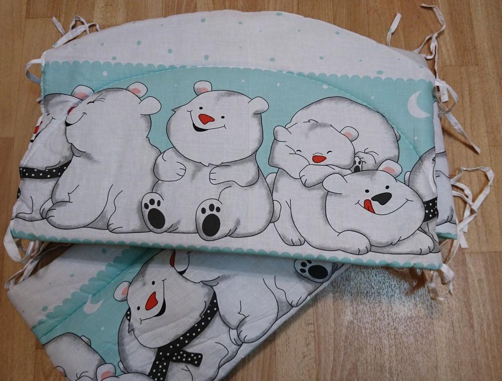 Бортики в кроватку, защита, комплект постельного (+2 сменных) 750 грн. фото №1