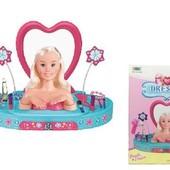 Игровой набор туалетный столик с головой куклы 8236