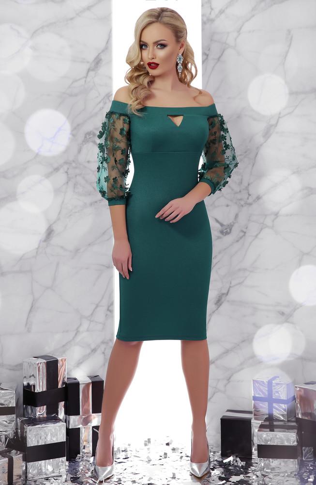 775b03655c3 Нереально красивое вечернее платье с открытыми плечами 3 цвета фото №1