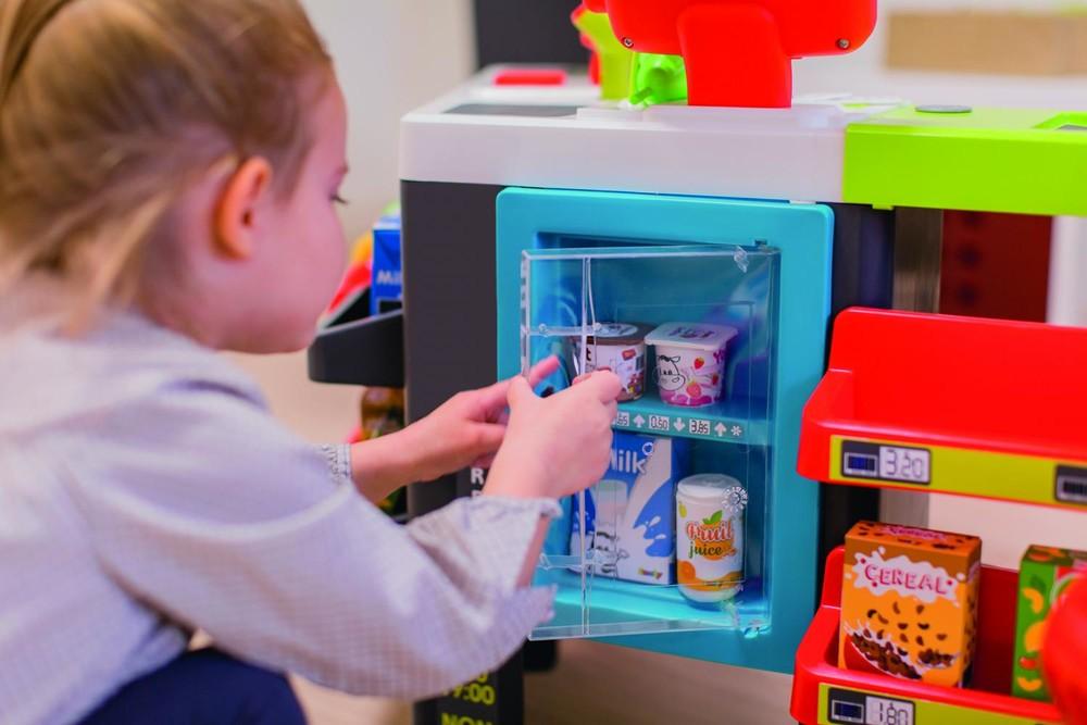 Интерактивный супермаркет smoby toys maxi market со звуковыми эффектами, тележкой и аксессуарами фото №2